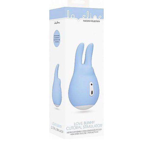 Клиторальный вибратор из силикона Love Bunny 9.4 см, LOV019BLU