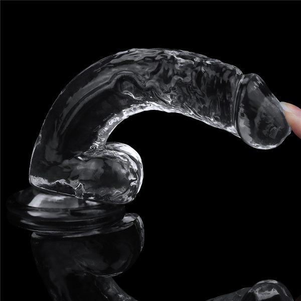Прозрачный фаллос на присоске Flawless Clear Dildo 7.5». LV310016