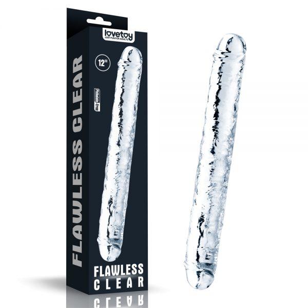 Двухсторонний фаллоимитатор Flawless Clear Double dildo 12». LV310018