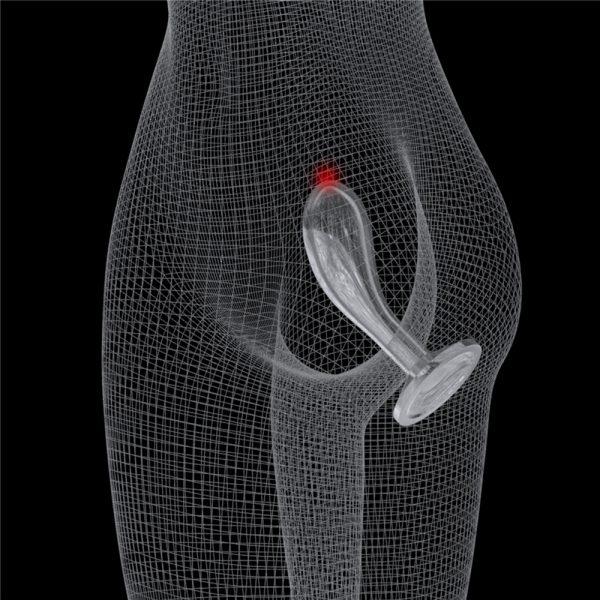 Анальные стимулятор Flawless Clear Prostate Plug 6.0″. LV310019